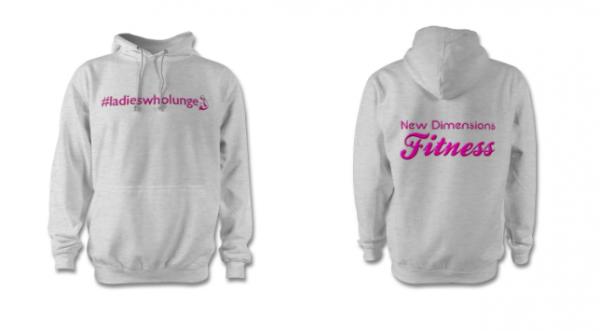 hoodie with #ladieswholunge